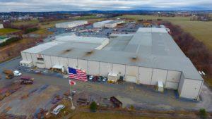 An aerial view of Greiner Industries facilities