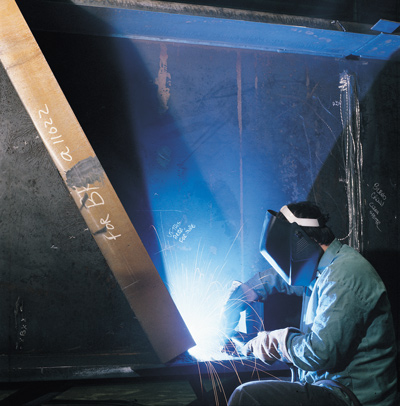A certified welder producing high-quality work